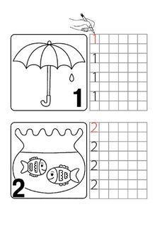 printables for kids Numbers Preschool, Free Preschool, Kindergarten Activities, Teaching Math, Childhood Education, Kids Education, Math Coloring Worksheets, Preschool Projects, Learning To Write