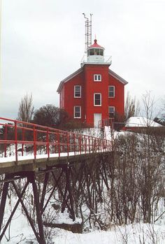 Marquette Harbor Lighthouse, Michigan- Also there is the Marquette Maritime Museum with a beautiful collection of lighthouse lenses.