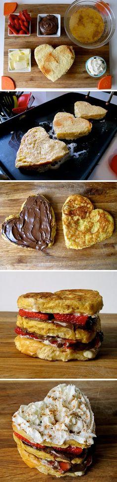 Amazing Stuffz: Strawberry Nutella Stacked French Toast