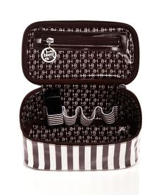 Brown & White Nail Polish Organizer | Cosmetic Bags | Henri Bendel