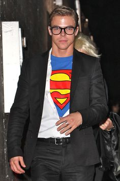 Derek Hough Is in Between Costumes at Heidi Klum's Halloween Party on October 31, 2009