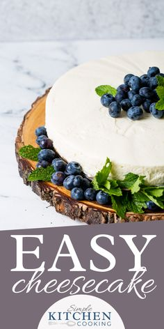 Cheesecake with a creamy filling and Butter Biscuit Crust. Say Hello to your new favorite Classic cheesecake recipe. #easyrecipe #cheesecake #dessert #dessertideas #dessertrecipes #nobake #nobakedesserts #nobakerecipes #cheesecakerecipe Best No Bake Cheesecake, Classic Cheesecake, Cheesecake Recipes, Easy To Make Desserts, No Bake Desserts, Dessert Recipes, Dinner Recipes, Delicious Desserts, Biscuit Mix