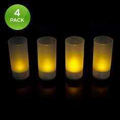 4 pack of rechargable flameless LED candles Good to have on hand.