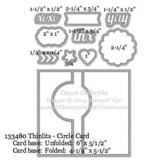 Circle Card Thinlit sizes shared by Dawn Olchefske #dostamping #stampinup