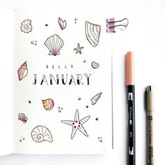 Get the best bullet journal summer theme ideas! Learn how to spice up your monthly spreads with different bullet journal summer theme ideas. Simple and Easy Designs that will be perfect for your Bulle Bullet Journal Tracker, Bullet Journal Cover Ideas, January Bullet Journal, Bullet Journal Notebook, Bullet Journal Themes, Bullet Journal Spread, Bullet Journal Layout, Journal Covers, Bullet Journal Inspiration