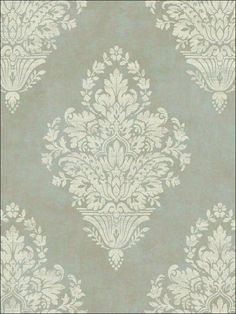 Woven Damask Wallpaper by York Wallpaper Dining Room Wallpaper, Go Wallpaper, Damask Wallpaper, Wallpaper Online, Designer Wallpaper, Floor Patterns, Print Patterns, Decoupage Tissue Paper, Victorian Wallpaper
