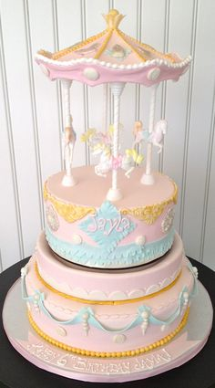 Victorian Carousel Cake that Spins!