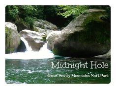 SmallWorld: In the Smokies: Midnight Hole - Swimming hole and waterfall easy hike in the Smokies