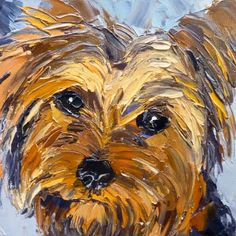 yorkie painting. look at that little face, megan!