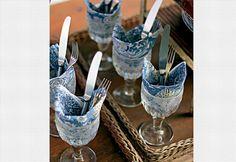 mesa posta - talheres na taça