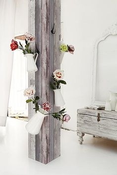 Creative way to get some flowers in house! :)