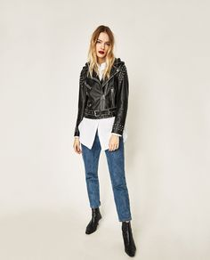 Image 1 of HOODED JACKET from Zara