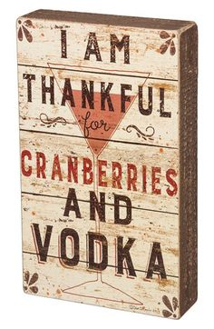 PRIMITIVES BY KATHY Primitives by Kathy 'Cranberries and Vodka' Wood Box Sign available at #Nordstrom