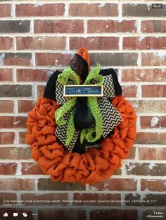 WANT... can someone make for me??? Burlap Wreath ideas