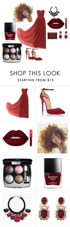 """red love"" by merisa-imsirovic ❤ liked on Polyvore featuring Remedios, Christian Louboutin, Lime Crime, Chanel, Chico's and Rebecca Minkoff"