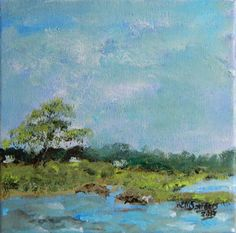 Acrylic Impressionist Landscape Painting by FlowerBranchStudio, $125.00