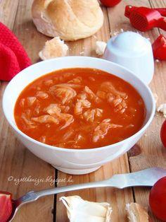 Az otthon ízei: Paradicsomos káposzta Lidl, Preserves, Thai Red Curry, Chili, Food And Drink, Soup, Healthy Recipes, Meals, Dinner