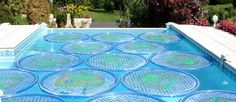Solar heating rings for your pool--Eluxe Magazine Solar Pool Rings, Solar Pool Cover, Solar Pool Heater, Outside Pool, Stock Tank Pool, Landscaping Software, Landscaping Contractors, Outdoor Projects, Outdoor Ideas