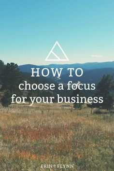 Every small business and entrepreneur should have a focus. Failure to establish your business focus will leave you floundering while others pass you by. Don't let that happen! Click through to learn how and why you should choose a focus for your web design (or any!) business!
