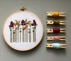 Hand Embroidery KIT - Beginner Embroidery Kit, DIY Hoop Art, Autumn Wildflowers, Fall Colors, Modern Floral Embroidery Pattern Wildflower Embroidery Kits are now available in the shop!Wildflower Embroidery Kits are now available in the shop! Diy Embroidery Kit, Floral Embroidery Patterns, Dmc Embroidery Floss, Hand Embroidery Stitches, Embroidery For Beginners, Crewel Embroidery, Hand Embroidery Designs, Embroidery Techniques, Modern Embroidery