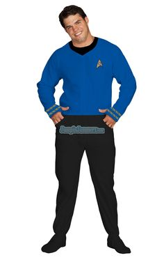 Shipping November 1st, Star Trek feetie pajamas, my favorites Sciences Blue, but also Command Yellow and Engineering Red. $64.99 // only up to XL sadly.
