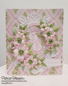 #HeartfeltCreations Flowering Dogwood flowers and papers and #Spellbinders Becca Feeken Victoriana Crest dies