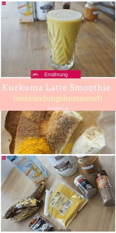 Spicy gingerbread turmeric latte - the smoothie for winter - . - Spicy gingerbread turmeric latte - the smoothie for winter . Latte, Healthy Drinks, Healthy Recipes, Coffee Business, Breakfast Smoothies, Kombucha, Winter Time, Turmeric, Matcha