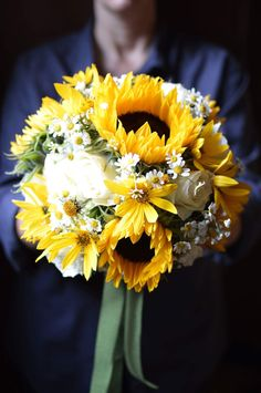 Brautstrauß,  Sonnenblumen