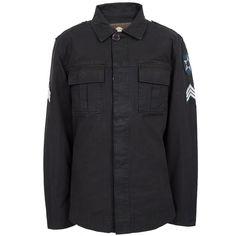 Navy Military Lennon Shirt | Pretty Green | Designer fashion from Liam Gallagher