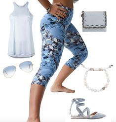Outfit Inspiration for wearing Capri  Pastel blue is one of the trending colours for Spring-Summer 2018. #authenticbeauty #legartlove #outfits #fashion2018 #trending#pastelblue #womeninbusiness