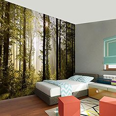 !!! SENSATIONSPREIS !!! Fototapete Wald 352 x 250 cm - Vliestapete - Wandtapete - Vlies Phototapete - Wand - Wandbilder XXL - !!! 100% MADE IN GERMANY !!! Runa Tapete 9010011a: Amazon.de: Baumarkt Modern, Master Bedroom, Exterior, Curtains, Wallpaper, Furniture, Home Decor, 3d Wall, Wall Papers