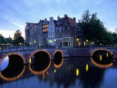 Amsterdam, Holland- didn't LOVE the downtown area, but it was pretty gorgeous outside of the city...