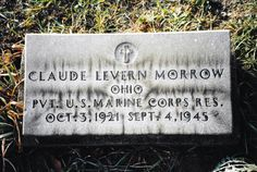 Tombstone Tuesday ~ Claude Levern MORROW #genealogy