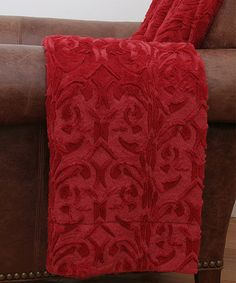 This Chili Red Deena Faux Fur Throw Blanket is perfect! #zulilyfinds