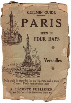 Old tourism guide of Paris and Versailles