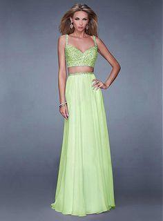 Chic A-line  Spaghetti Straps Neckline Floor-length Prom Dress Prom Dresses