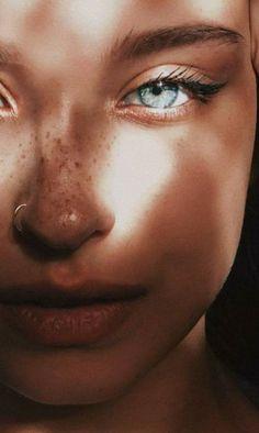 Beautiful girl with light blue eyes - # Magnificent makeup augen hochzeit ideas tips makeup Aesthetic Eyes, Aesthetic Makeup, Aesthetic Girl, Nature Aesthetic, Aesthetic People, Aesthetic Drawing, Gorgeous Eyes, Pretty Eyes, Cool Eyes