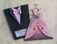 """Wedding Invitation Boxes """"Groom Suit"""", Handmade Bridal Invitation Boxes, Invitatio on Luulla Card Table Wedding, Wedding Invitation Cards, Diy Wedding Cards, Handmade Invitation Cards, Wedding Favors, Wedding Ideas, Paper Crafts Origami, Table Cards, Diy Cards"""