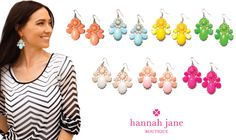 BUBBLE FLOWER EARRINGS $3.99 A PAIR SHIPPED FREE ~ 4 DAYS ONLY HURRY