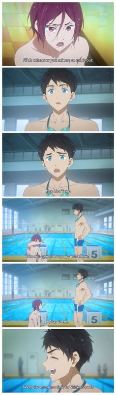 Free! ES ~~ Little did he know what that spur of the moment remark might come to mean later.... :: Rin and Sosuke