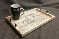 Decorative tray Barn wood Serving Tray by TheWhiteBirchStudio