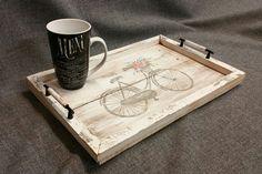 Decorative tray Barn wood Serving Tray by TheWhiteBirchStudio