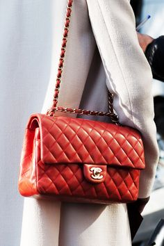 Red Chanel Timeless Bag