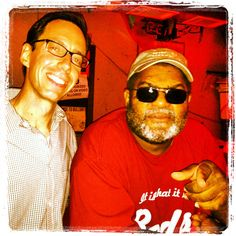 """Yours truly hanging out with """"King of the Juke Joint Runners"""" Red Paden at his Red's juke a couple years back. Red offers up real-deal Mississippi blues Fri-Sun each week... along with a side of bull@#$!, of course... 'cause that's (as he would say), """"just proper procedure!"""""""