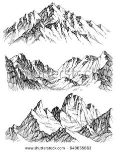 Nature In The Mountains Sketch Download From Over 54 Million High