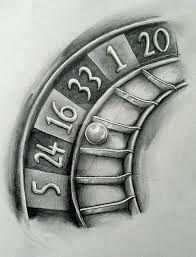 Bildergebnis für roulette tattoo designs