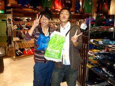 【大阪店】 2012年10月29日  北海道から修学旅行でお越しのmiuさん&sho-taさん  miuさんはセレクションの通販でよく利用されているそうです!  いつもありがとうございます