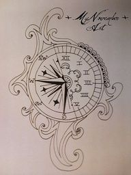 small compass tattoos - Google Search