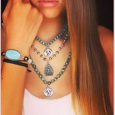 Wear Peace Mala Collection @ www.acompton.com Spiritual Jewelry, Fine Jewelry, Peace, Chain, Halloween, How To Wear, Collection, Fashion, Moda
