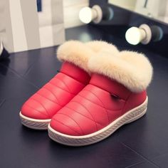 07841264c9 Women Snow Boots Winter Warm Fur Ankle Boots Couple Thick Sole Cotton Shoes  Woman Flats Waterproof Anti-skid Botas Mujer Zapatos